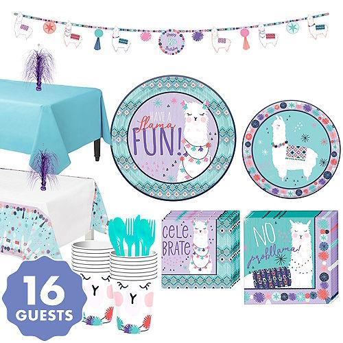 Llama Fun Tableware Kit For 16 Guests