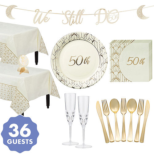 Golden 50th Wedding Anniversary Party Supplies 50th Anniversary