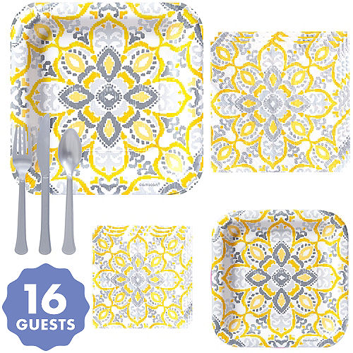 Sunshine Yellow Tableware Sunshine Yellow Party Supplies Party City