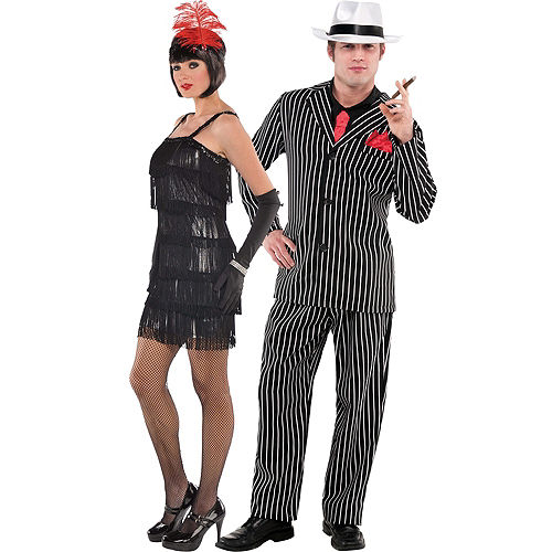 Flashy Flapper Mob Boss Couples Costumes