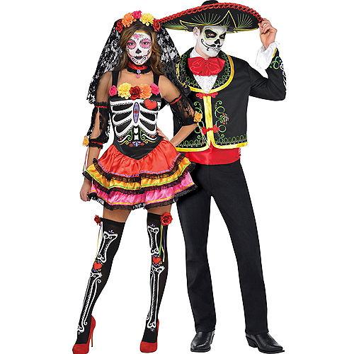 adult day of the dead senorita day of the dead sombrero senor couples costumes