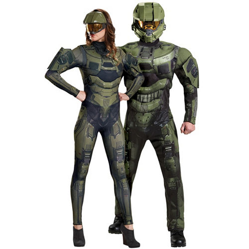 adult master chief couples costumes halo