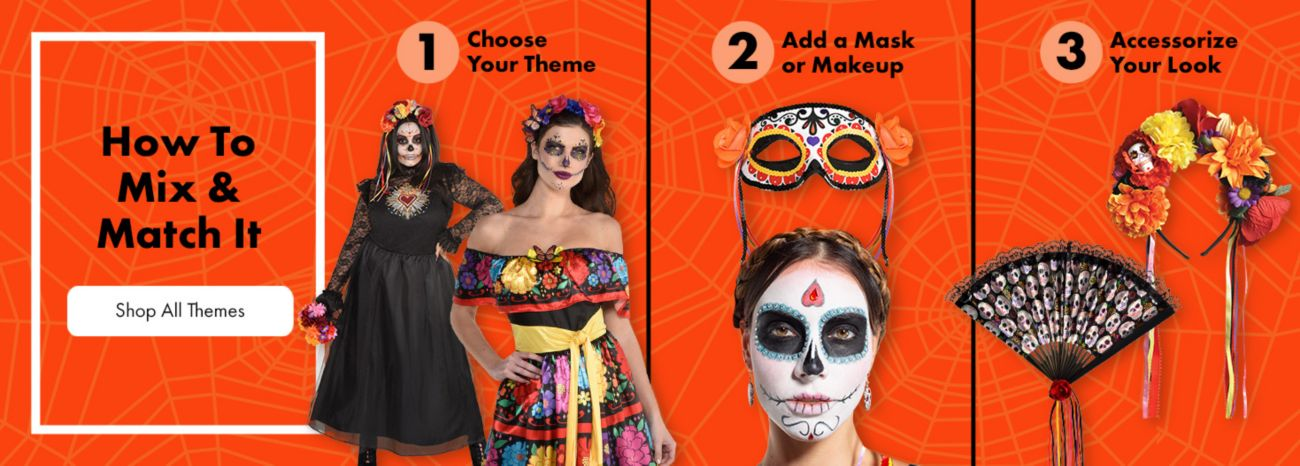 Mix and match Halloween costume themes.