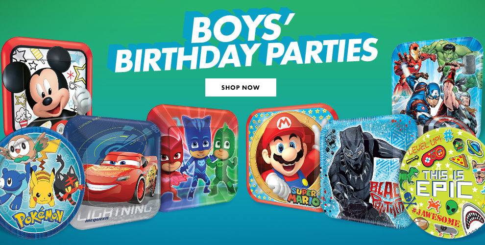 New Boys' Birthday Party Themes