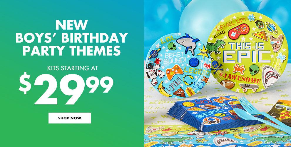 New Boys' Birthday Party Themes