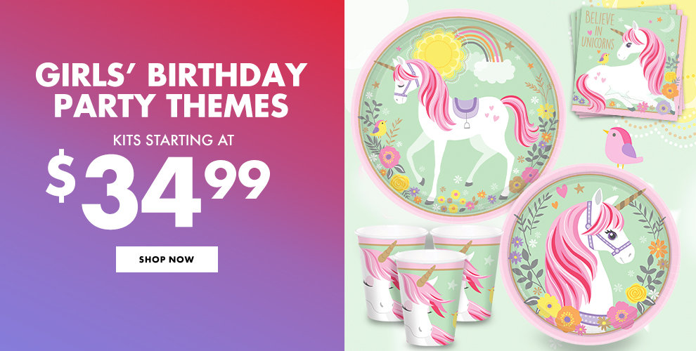 Girls' Birthday Party Themes Kits Starting at $29.99 Shop Now
