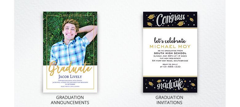 Custom Graduation Announcements & Invitations