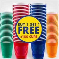Buy 1, Get  1 Free Cups