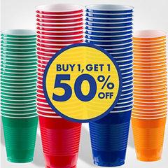 Buy 1, Get  50% off Cups