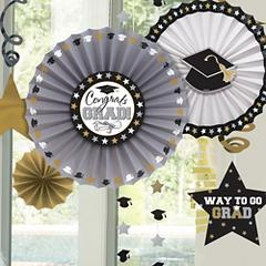 Black, Silver & Gold Graduation Supplies