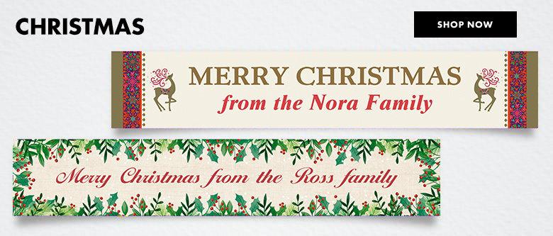 Custom Christmas Banners Shop Now