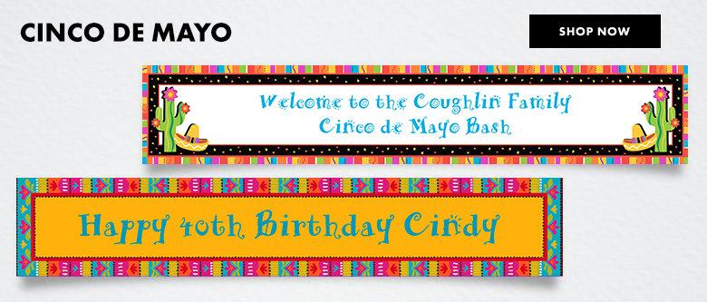 Custom Cinco De  Mayo Banners Shop Now