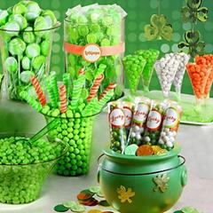 St. Patrick's Day Candy Buffet By Color