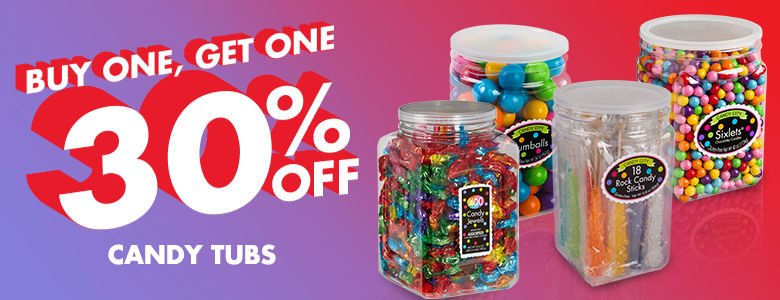 Buy 1 Get 1 30% Off Candy Buffet Tubs