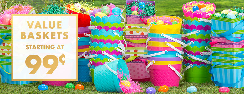 Easter baskets for kids plush baskets plastic buckets party city easter baskets buckets negle Gallery