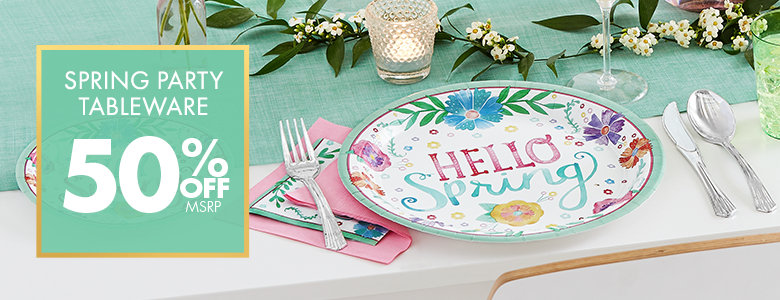 Spring Theme - Patterned Tableware 50% Off MSRP