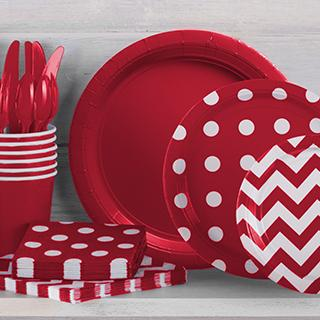 Dots & Chevron Tableware in 21 Colors