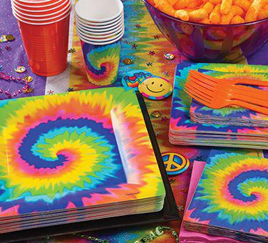60s Tie Dye Party Party Supplies