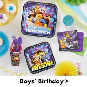 Boys Birthday Party Supplies
