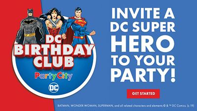 Invite an animated DC Super Hero to your child's birthday party!; Get Started
