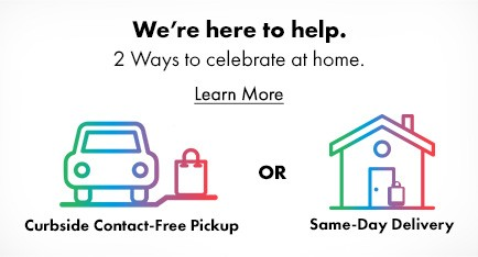 Curbside Contact-Free Pickup and Same Day Delivery Available