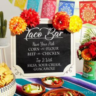 Taco bar inspiration