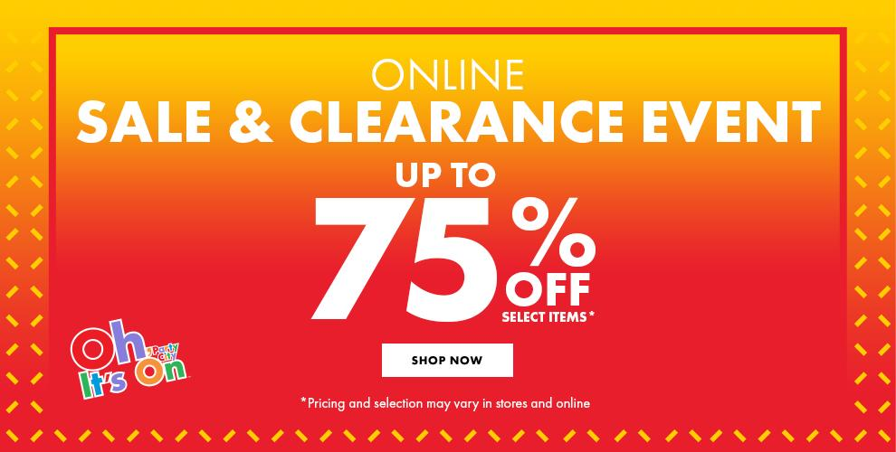 Sale & Clearance Event Up To 75% Off