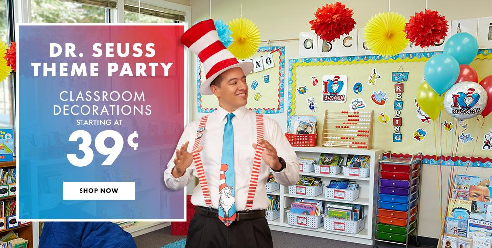 Dr Seuss Theme Party - Decorations starting at $0.39