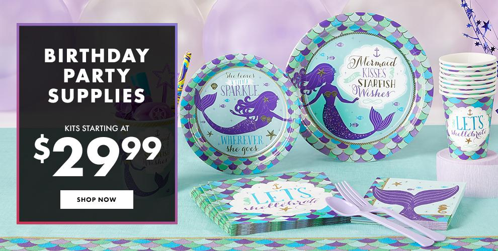 Happy Birthday! Birthday Party Supplies Kits Starting at $29.99