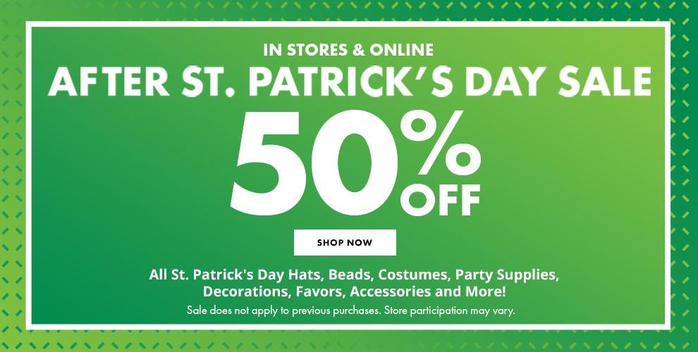 St Patrick's Day Sale