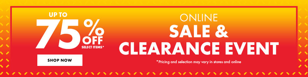 Online Sale & Clearance Event Up To 75% Off