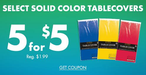 5 for $5 Select Solid Color Tableware