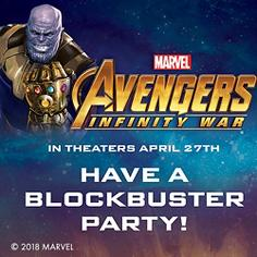 Avengers Infinity Wars Party Supplies