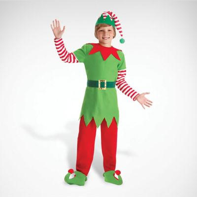 Childrens Green Elf Fancy Dress Costume Christmas Outfit Girls Childs L