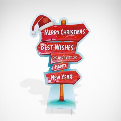 Merry Christmas Ornament Sign.Outdoor Christmas Decorations Party City