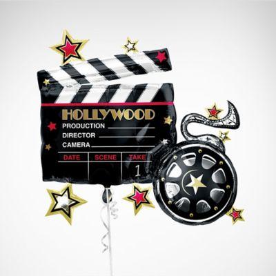 10 Hollywood Camera Movie Awards Party Silver Black Theme  Balloons Decoration