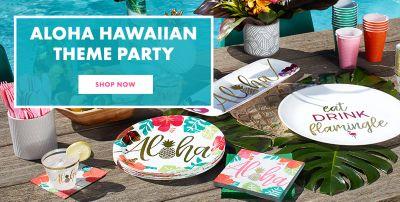 Luau Party Supplies  sc 1 st  Party City & Luau Party Supplies - Hawaiian Luau Decorations   Party City