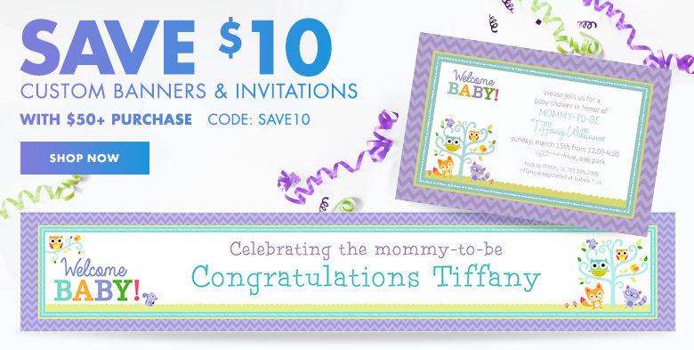 Custom Baby Shower Invitations & Banners