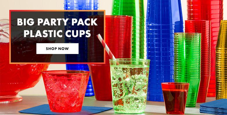 Big Party Pack Plastic Cups Shop Now