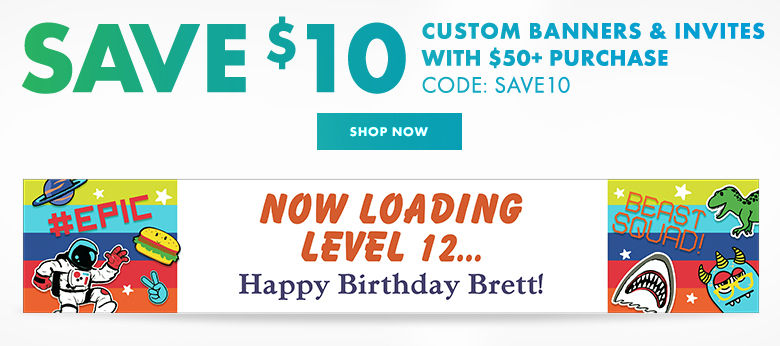Custom Boys Birthday Banners