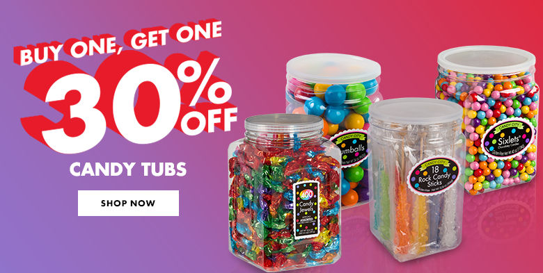 Candy Buffet Tub Promotion