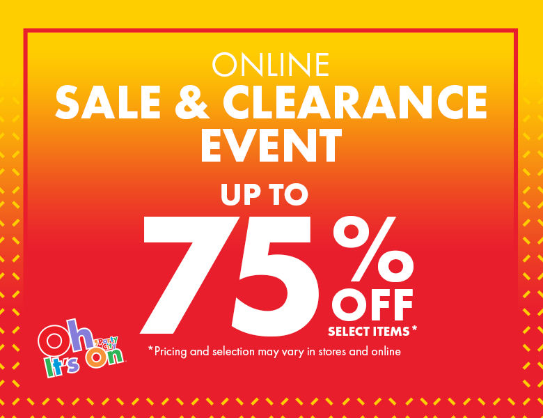 Sale & Clearance Event Up To 75% Off Select Items*