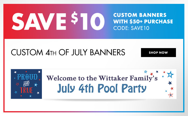 Custom 4th of July Banners Shop Now