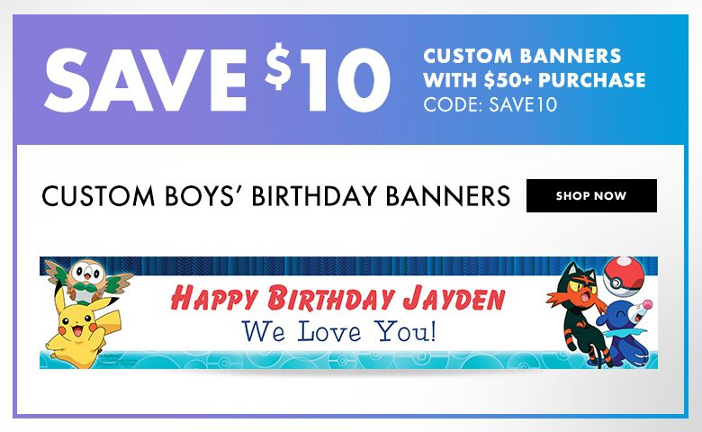 Custom Boys' Birthday Banners – $10 off with $50+ purchase Use Code:SAVE10 Shop Now