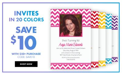 Custom Invitations Personalized Invitations Party City Canada