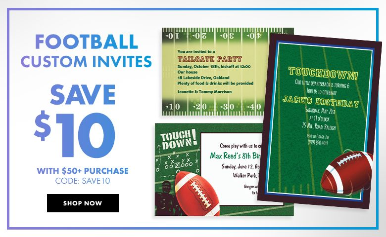 Basketball Invitations – $10 off with $50+ purchase Use Code:SAVE10 Shop Now