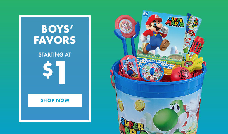 Boys' Birthday Party Favors
