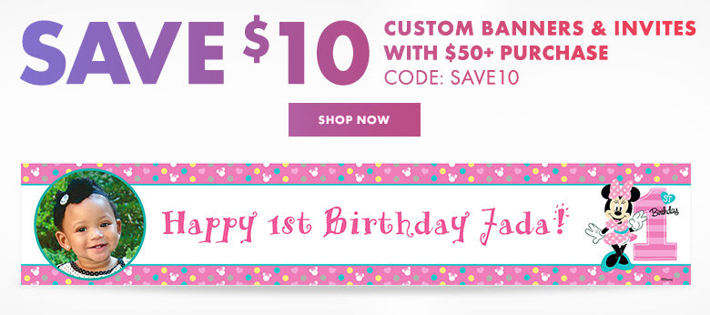 Custom First Birthday Banners