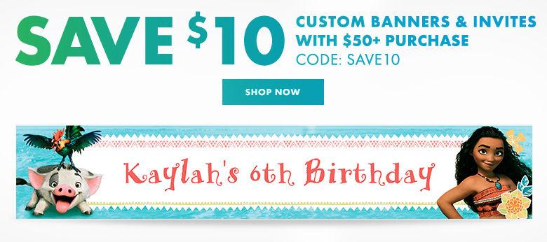 Custom Girls Birthday Banners