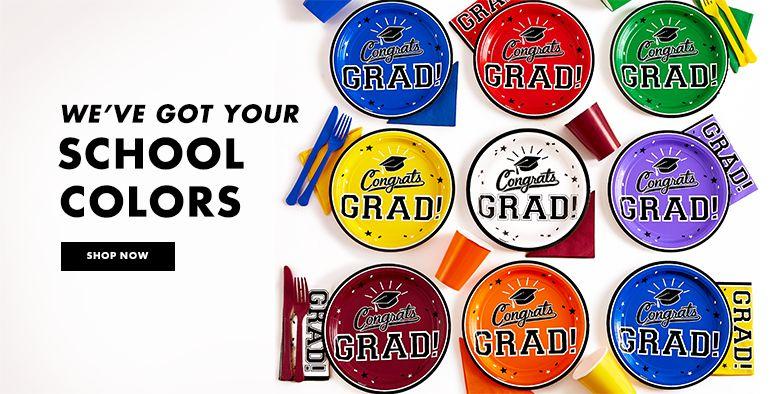 Graduation Supplies by School Color